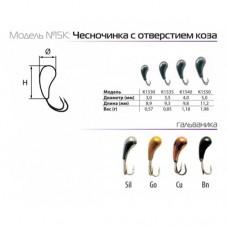 Мормышки вольфрамовые SPIDER чесночинка с отверстием коза в Москве купить