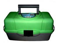 Ящик рыболовный трехполочный Helios зеленый