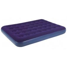 Надувная кровать Relax Flocked air bed DOUBLE кровать без встр. Насоса 191x137x22 синий 20256