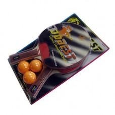 Набор для настольного тенниса Dobest BR06 0 звезд (2 ракетки + 3 мяча) в Москве