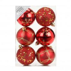 Набор ёлочных шаров INGE'S Christmas Decor 81075G003 d 8 см, красный (6 шт) в Москве