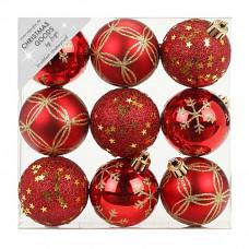 Набор ёлочных шаров INGE'S Christmas Decor 81074G003 d 6 см, красный (9 шт) в Москве