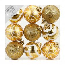 Набор ёлочных шаров INGE'S Christmas Decor 81074G001 d 6 см, золото (9 шт) в Москве
