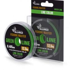 Леска Allvega Fishing Master 30м 0,235мм (4,3кг) зеленая