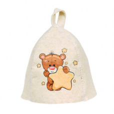 Шапка для бани детская Hot Pot Мишка (войлок) 41213 в Москве
