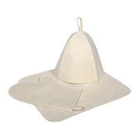 Набор для бани Hot Pot (шапка, коврик, рукавица) войлок 42013