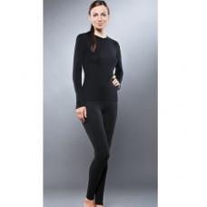 Комплект женского термобелья Guahoo: рубашка + лосины (651S-BK / 651P-BK) (2XS) в Москве